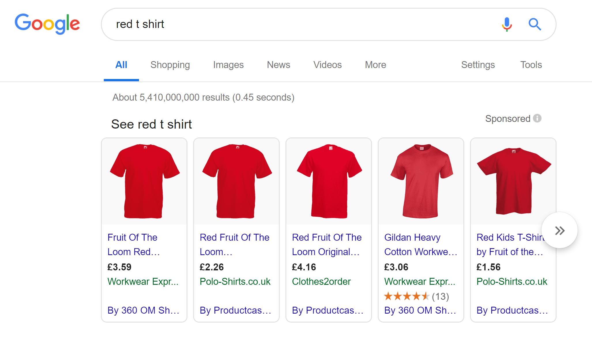 red t shirt shopping ads